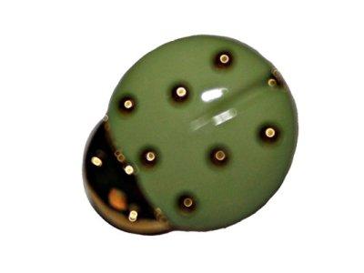 Knopf 15 mm Marienkäfer grün