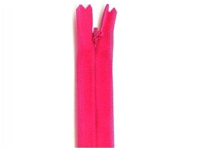 Nahtverdeckter Reißverschluss, 40 cm, nicht teilbar, pink