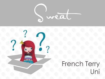 Überraschungspäckchen French Terry Sweat 4,0m uni