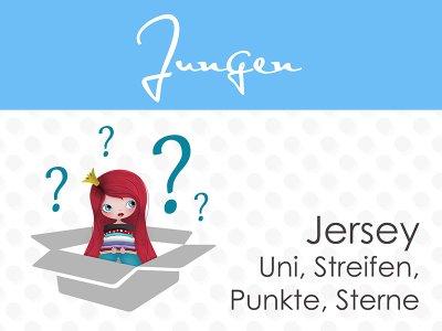 Überraschungspäckchen Jungs Jersey 4,5m Uni, Streifen, Punkte, Sterne