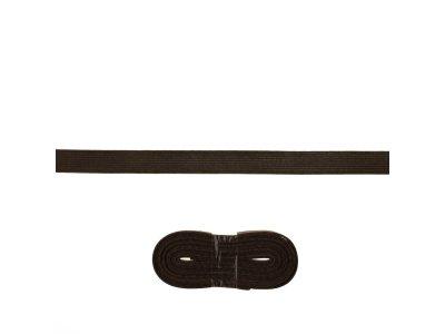 Schrägband/Einfassband Baumwolle gefalzt 20 mm x 3 m Coupon - uni dunkles mokka