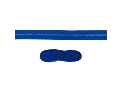 Schrägband/Einfassband Baumwolle gefalzt 20 mm - 3 m Coupon - uni kobaltblau