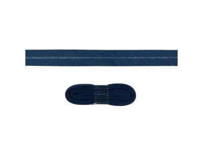 Schrägband/Einfassband Baumwolle gefalzt 20 mm - 3 m Coupon - uni navy