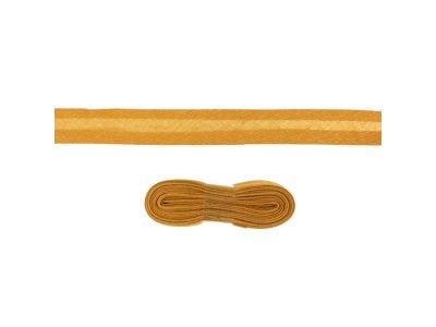 Schrägband/Einfassband Baumwolle gefalzt 20 mm - 3 m Coupon - uni rehbraun