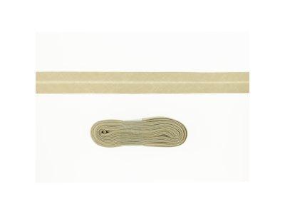 Schrägband/Einfassband Baumwolle gefalzt 20 mm - 3 m Coupon - uni sand
