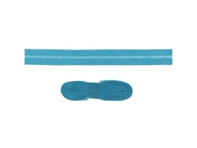 Schrägband/Einfassband Baumwolle gefalzt 20 mm - 3 m Coupon - uni türkis