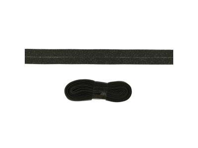 Schrägband/Einfassband Baumwolle gefalzt 20 mm - 3 m Coupon - uni schokobraun