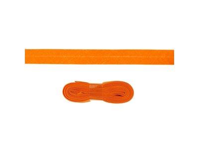 Schrägband/Einfassband Baumwolle gefalzt 20 mm - 3 m Coupon - uni orange