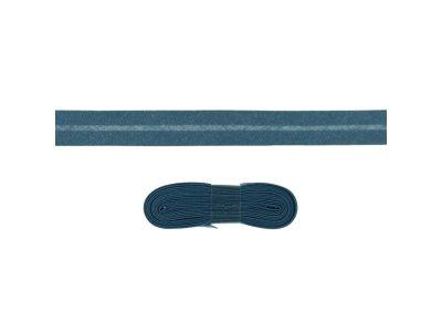 Schrägband/Einfassband Baumwolle gefalzt 20 mm - 3 m Coupon - uni jeansblau