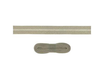 Schrägband/Einfassband Baumwolle gefalzt 20 mm - 3 m Coupon - uni taupe