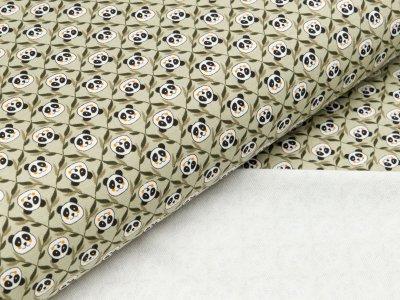 Viskose-Sweat Hilco - Panda - olivgrün