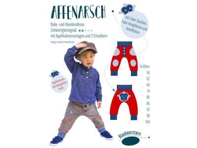 Papierschnittmuster Blaubeerstern  Baby- und Kleinkindhose AFFENARSCH - Kinder