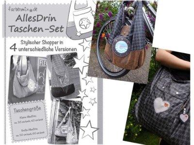 Schnittmuster AllesDrin Taschen-Set Farbenmix