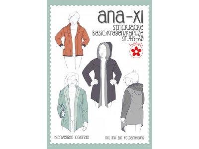 Papierschnittmuster Farbenmix Ana-XL  Plus-Size Damen-Strickjacke