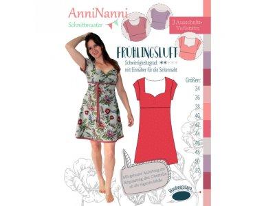 Papierschnittmuster Blaubeerstern AnniNanni Kleid FRÜHLINGSLUFT - Damen