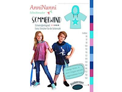 Papierschnittmuster Blaubeerstern AnniNanni SOMMERWIND - Mädchen und Jungen