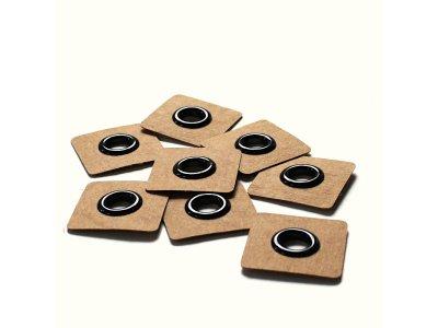 Aufnäh-Ösen auf SnapPap 8mm 4 Stück - uni schwarz