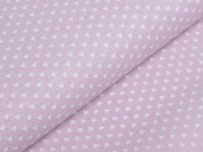 Französische Webware Baumwolle - kleine Herzen - rosa