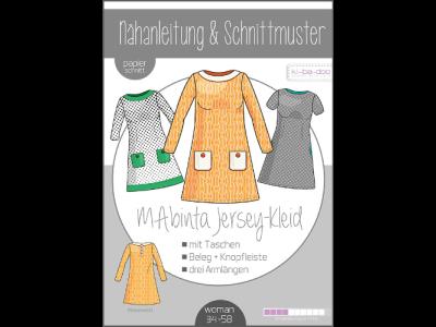 Papierschnittmuster ki-ba-doo MAbinta Jersey-A-Linien-Kleid Damen