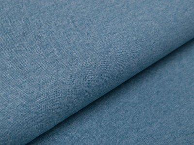 Glattes Bündchen im Schlauch - meliert blaugrün