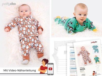 Papierschnittmuster pattydoo Wickeljacke und Pumphose PIPPA - Babyset