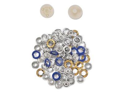 BabySnap Jersey Druckknöpfe - 20 Stück/10 mm - blau
