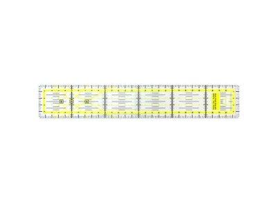 Quilt Lineal 30x5cm - transparent/gelb