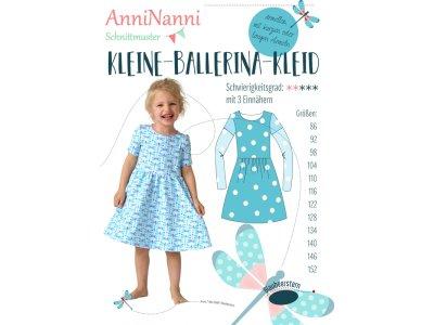 Papierschnittmuster Blaubeerstern AnniNanni KLEINE-BALLERINA-KLEID - Mädchen