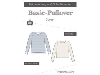 Papier-Schnittmuster Fadenkäfer - Basic-Pullover - Damen