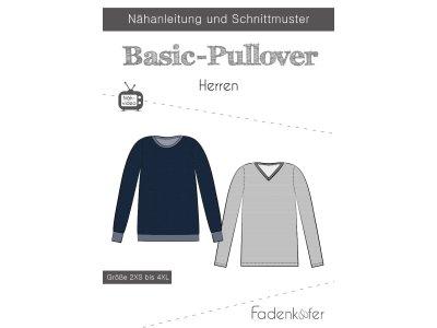 Papier-Schnittmuster Fadenkäfer - Basic-Pullover - Herren