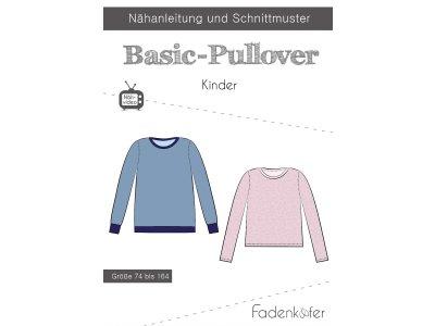 Papier-Schnittmuster Fadenkäfer - Basic-Pullover - Kinder