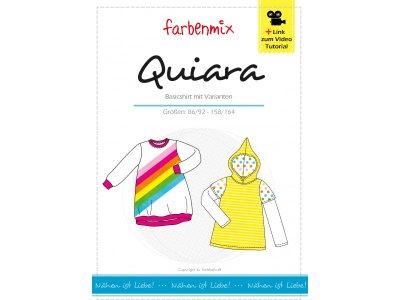 Papierschnittmuster Farbenmix QUIARA Kinder-Shirt