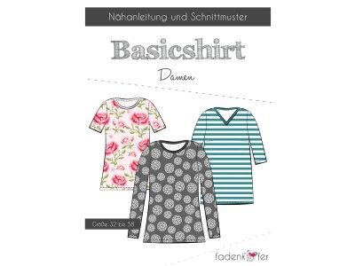 Papier-Schnittmuster Fadenkäfer Basicshirt Damen