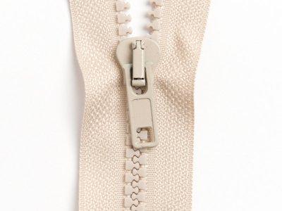 Reißverschluss teilbar 80 cm - beige