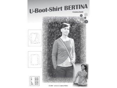 Schnittmuster BERTINA U-Boot-Shirt Farbenmix