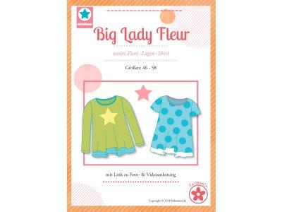 Papierschnittmuster Farbenmix  Big Lady Fleur  Plus-Size Damenshirt