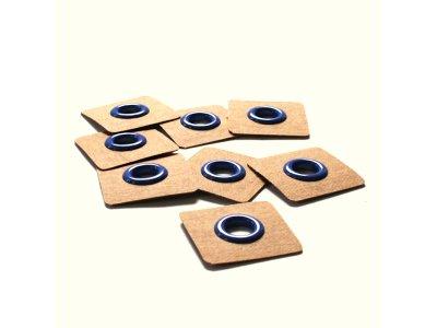 Aufnäh-Ösen auf SnapPap 8mm 4 Stück - uni blau