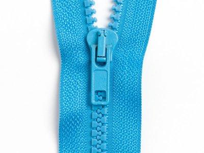 Reißverschluss teilbar 70 cm - blau