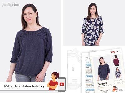 Papierschnittmuster pattydoo Shirt und Bluse CARMEN - Damen