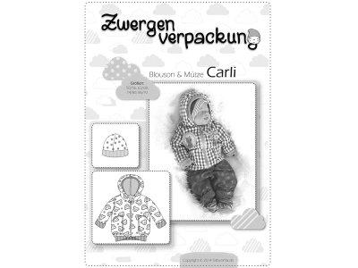 Schnittmuster Carli Blouson & Mütze Zwergenverpackung Farbenmix