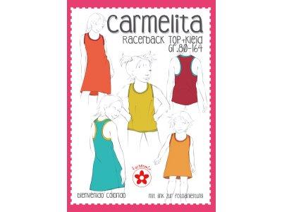 Schnittmuster CARMELITA - Racerback Shirt / Kleid für Mädchen