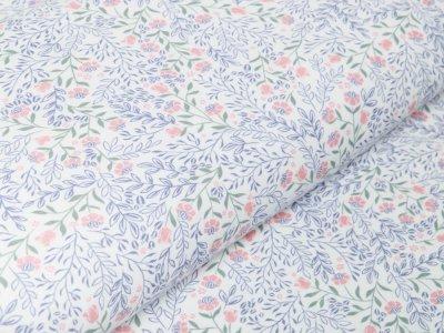 Jersey Modal - Blumensträuße - weiß