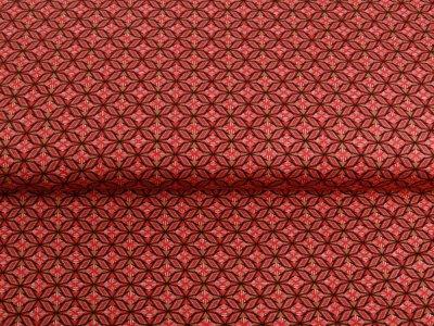 Single Jersey - Kaleidoskope-Muster - steinrot