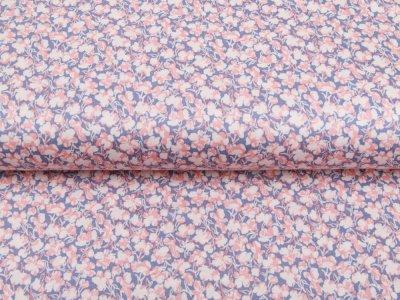 Single Jersey - Blumen-Muster - indigoblau