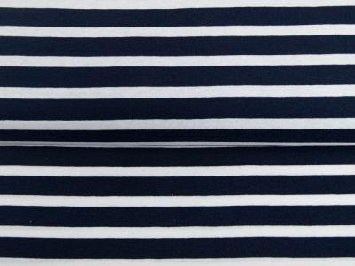 Single Jersey - Streifenmix - navy