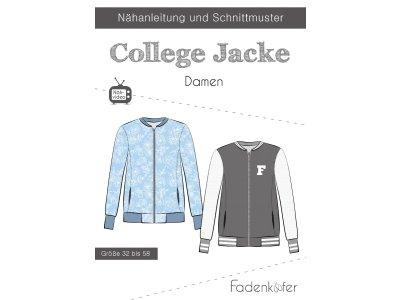 Papier-Schnittmuster Fadenkäfer - College Jacke - Damen