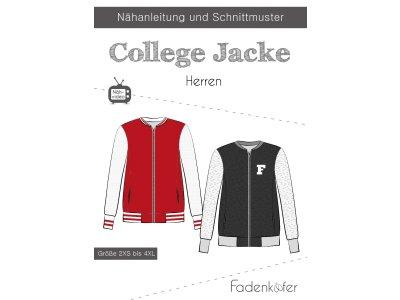 Papier-Schnittmuster Fadenkäfer - College Jacke - Herren