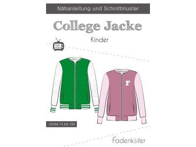 Papier-Schnittmuster Fadenkäfer - College Jacke - Kinder