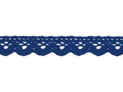 Spitze Baumwolle - 15 mm - kobaltblau