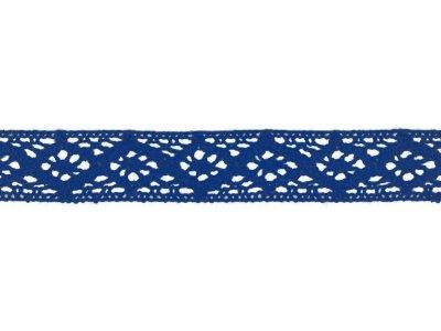 Spitze Baumwolle - 20 mm - kobaltblau